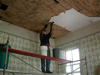 Replacing Lath And Plaster Ceiling