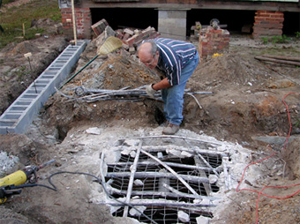 Filling an Antique Septic Tank