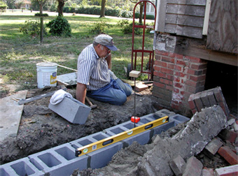 building concrete block foundation - House Footer