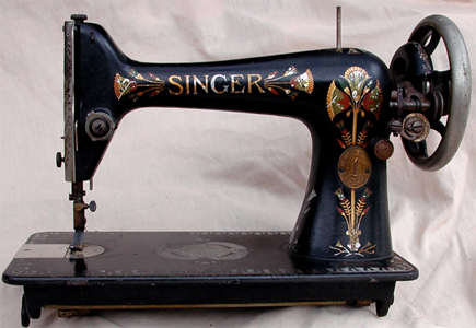 Singer Lotus Pattern Sewing Machine