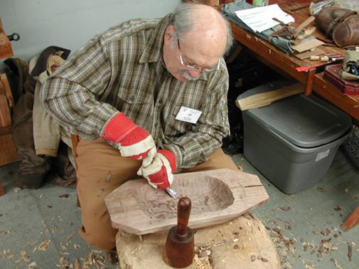 Carving a Walnut Bowl