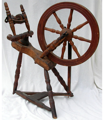 Fiddle-Back Bed Spinning Wheel