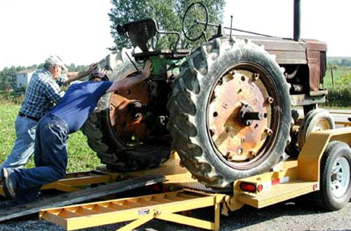 John Deere Tractor Tie Downs : Moving the john deere to west virginia