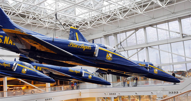 Flight of Blue Angels Suspended in National Naval Aviatiion Museum