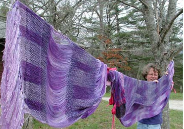 Weaving With Hand-Dyed Yarn